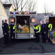 Members of the Norwood EMS piled the items locals donated into an ambulance and a trailer.