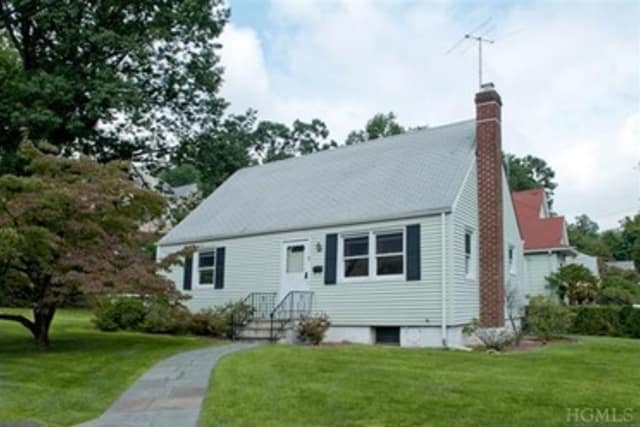This house at 85 Burnside Drive in Hastings-on-Hudson is open for viewing this Sunday.