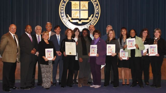 The City of New Rochelle's 325th Anniversary celebration came to a close on March 18 with a commemorative reception at City Hall.