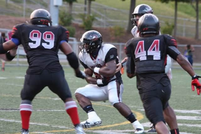 The Western Connecticut Militia, in white jerseys, will take on the Boston Bandits on Saturday in the New England Football League Triple-A championship game.