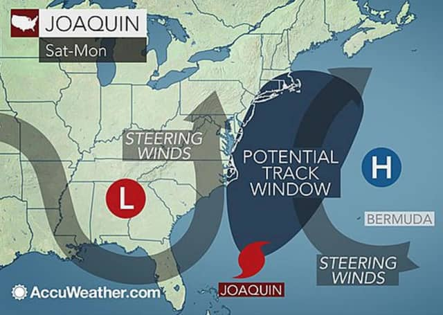 Experts believe hurricane Joaquin will move off to sea, but it still could bring heavy rains to the region.
