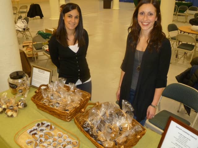 Westchester bakers Pamela Worth and Jenny Frank sold their gluten free baked goods at the Westchester County Indoor Farmer's Market.