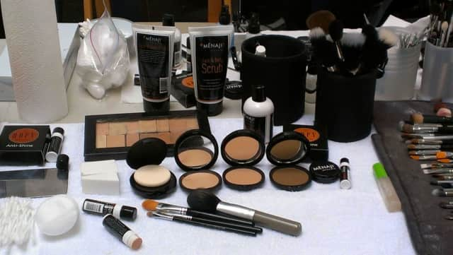 The Fairfield company's men's skincare products shown here were ones used on models in a runway show at New York Fashion Week in Manhattan.